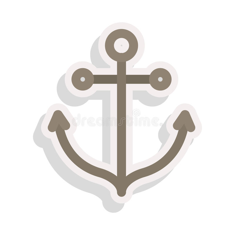 Icona nautica dell'ancora royalty illustrazione gratis