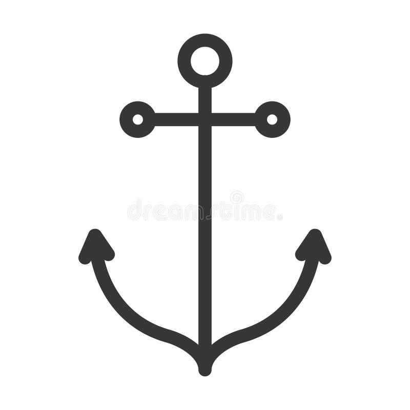Icona nautica dell'ancora illustrazione vettoriale