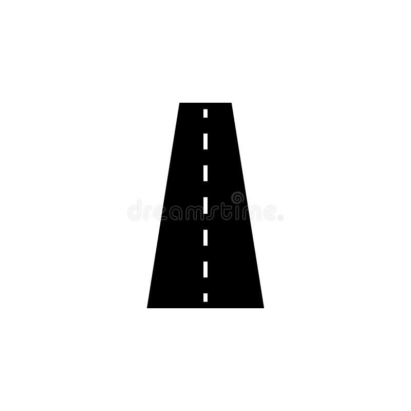 Icona, navigazione e via solide della strada illustrazione di stock