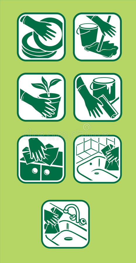 Icona nazionale di pulizia royalty illustrazione gratis