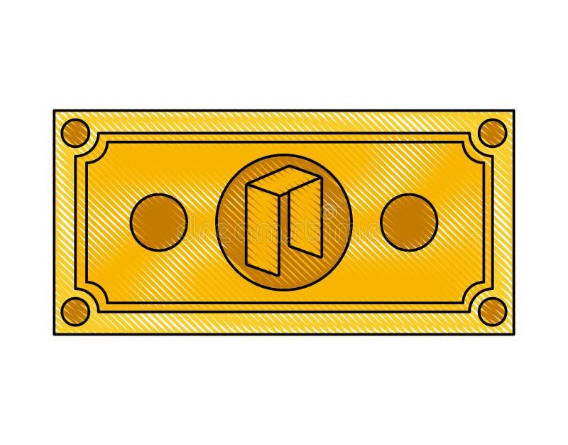 Icona neo di tecnologia di commercio di Bill royalty illustrazione gratis