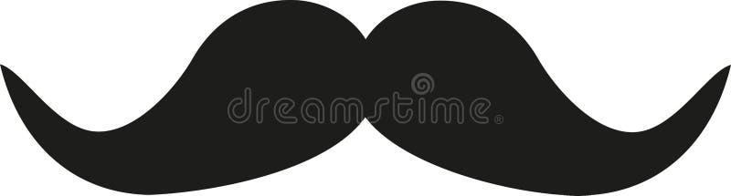 Icona nera dei baffi retro illustrazione di stock