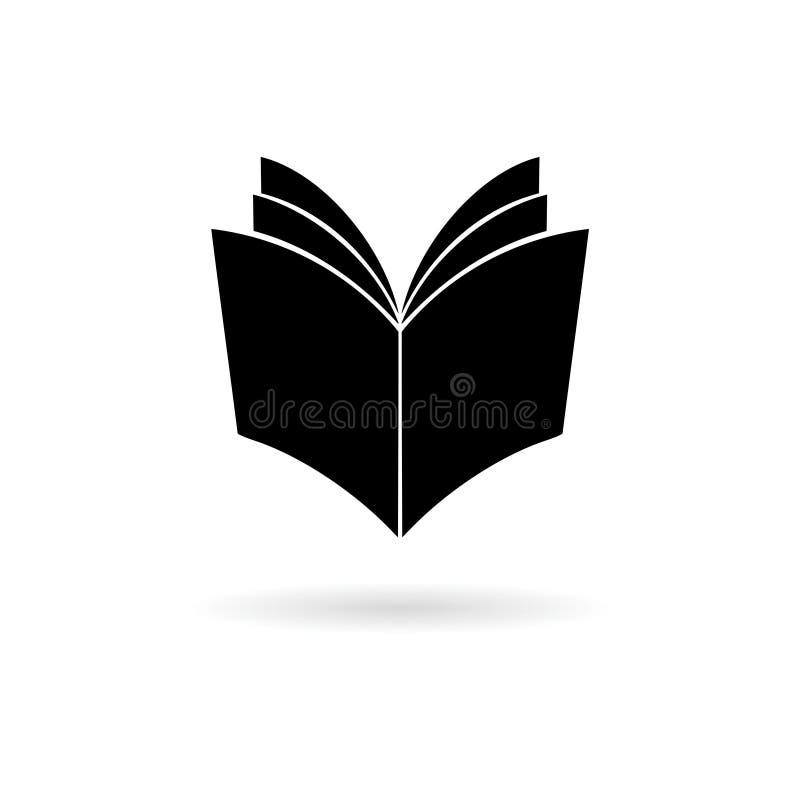 Icona nera del libro aperto royalty illustrazione gratis