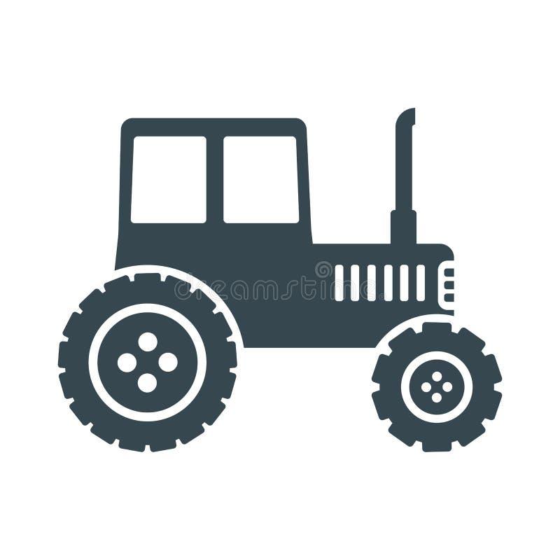 Icona nera del trattore royalty illustrazione gratis