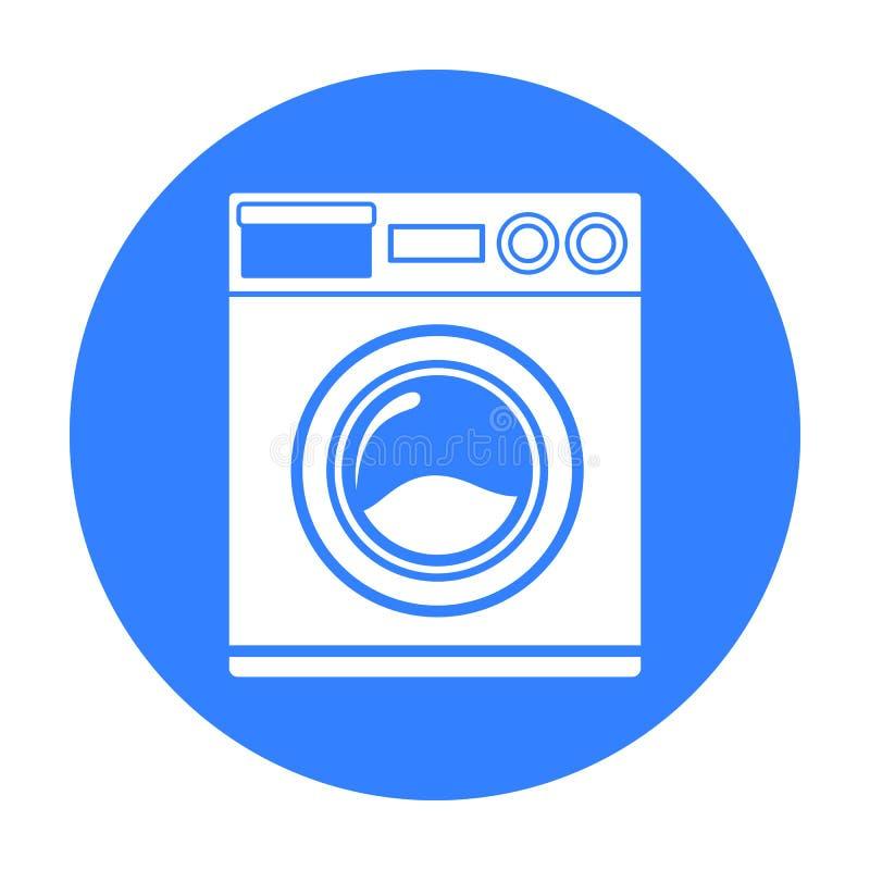 Icona nera della rondella Illustrazione per il web e la progettazione mobile illustrazione vettoriale