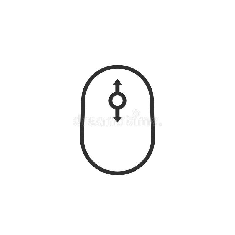 Icona nera semplice di scorrimento di contorno illustrazione vettoriale