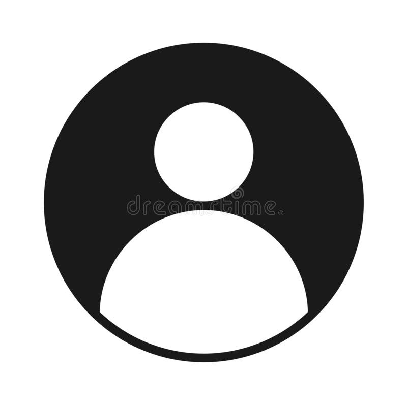 Icona nera solida dell'avatar di profilo utente fotografia stock libera da diritti