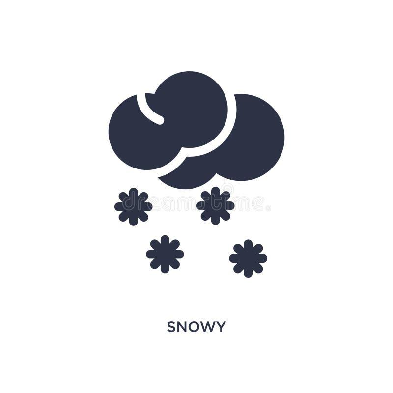 icona nevosa su fondo bianco Illustrazione semplice dell'elemento dal concetto del tempo royalty illustrazione gratis
