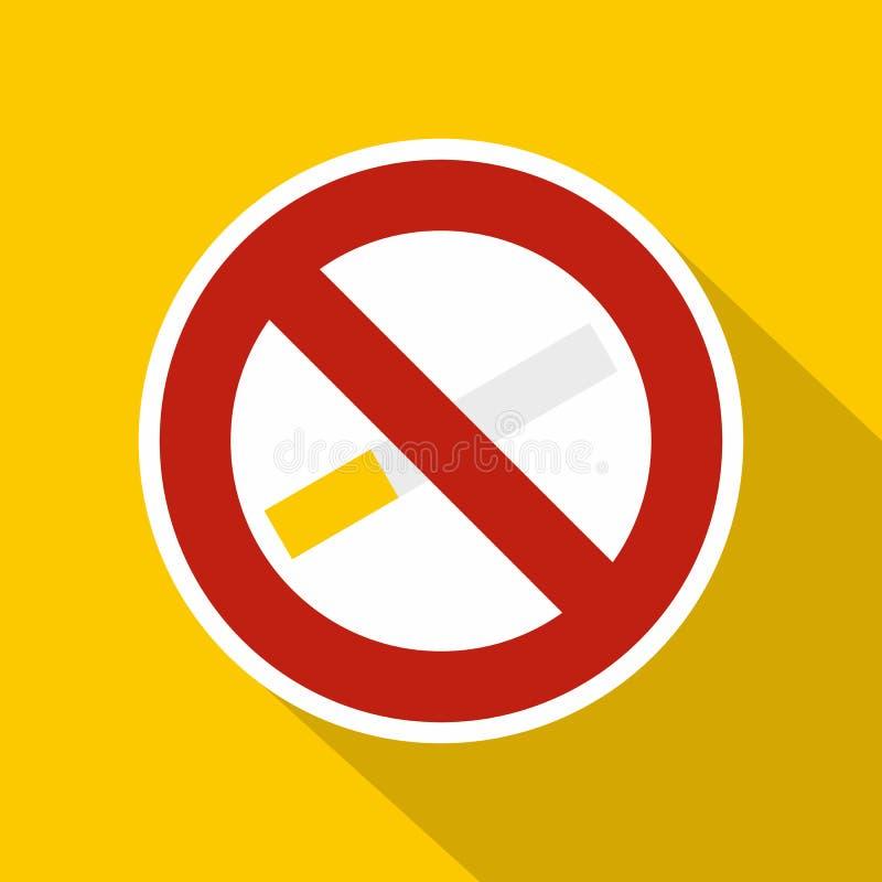 Icona non fumatori del segno, stile piano royalty illustrazione gratis