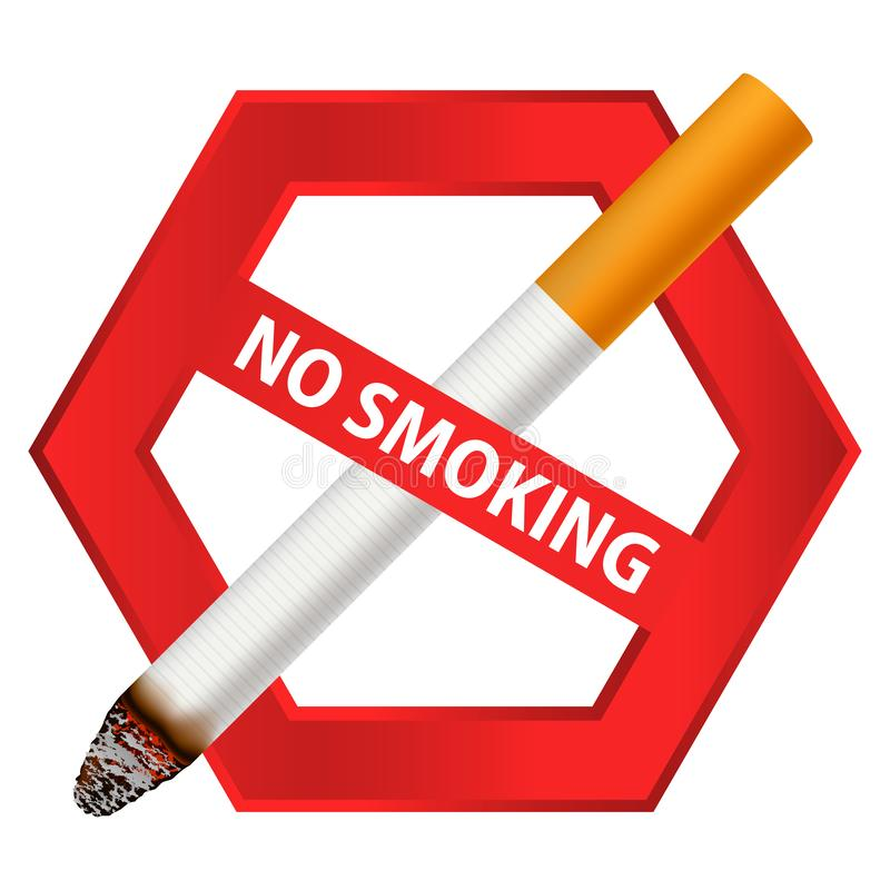 Icona non fumatori del segno, stile realistico royalty illustrazione gratis