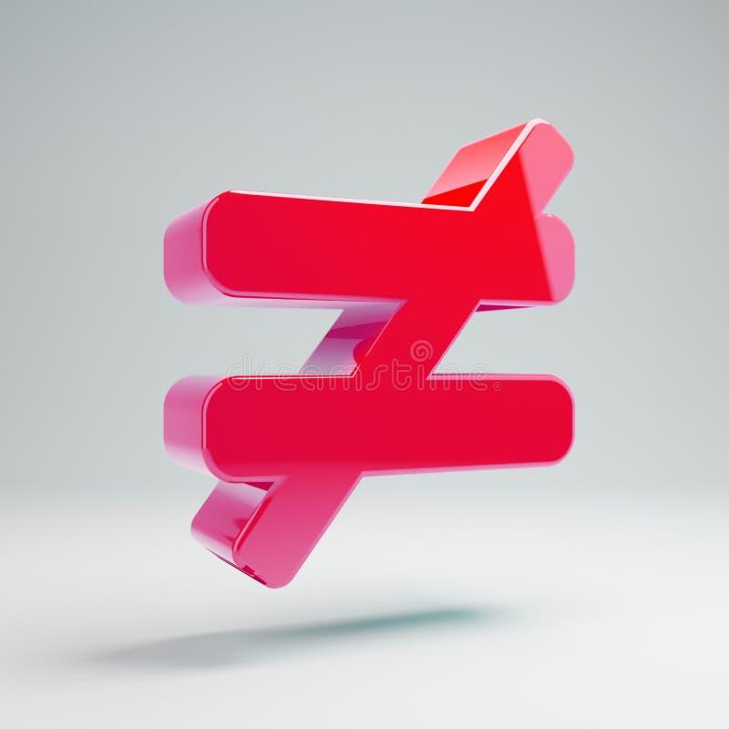Icona non uguale calda lucida volumetrica di rosa isolata su fondo bianco illustrazione di stock