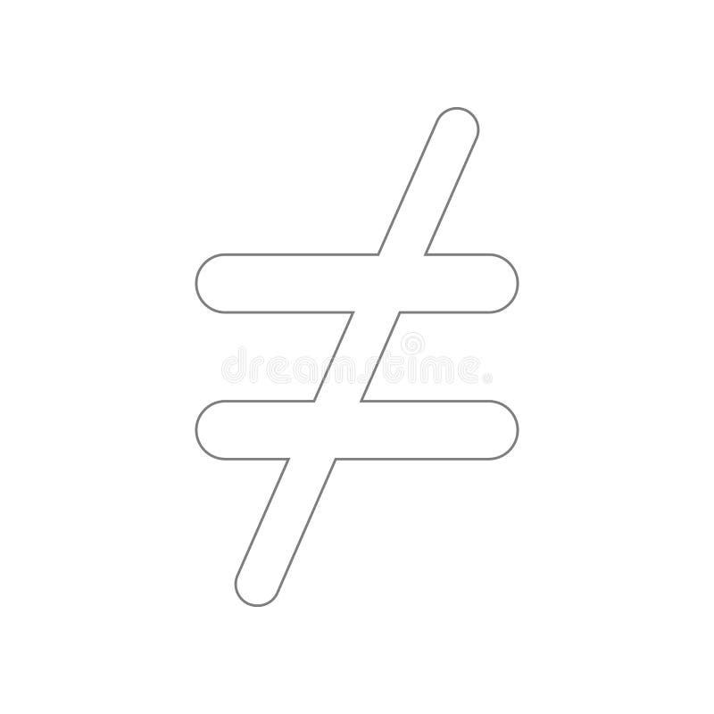 icona non uguale Elemento del web per il concetto e l'icona mobili dei apps di web Profilo, linea sottile icona per progettazione illustrazione di stock