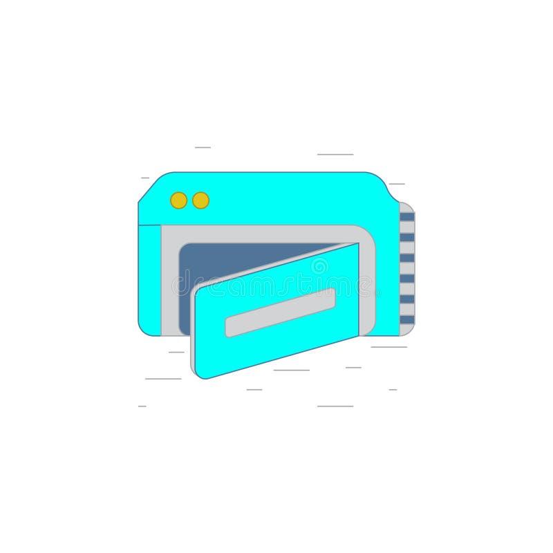 Icona o illustrazione della videocamera nello stile del profilo illustrazione di stock