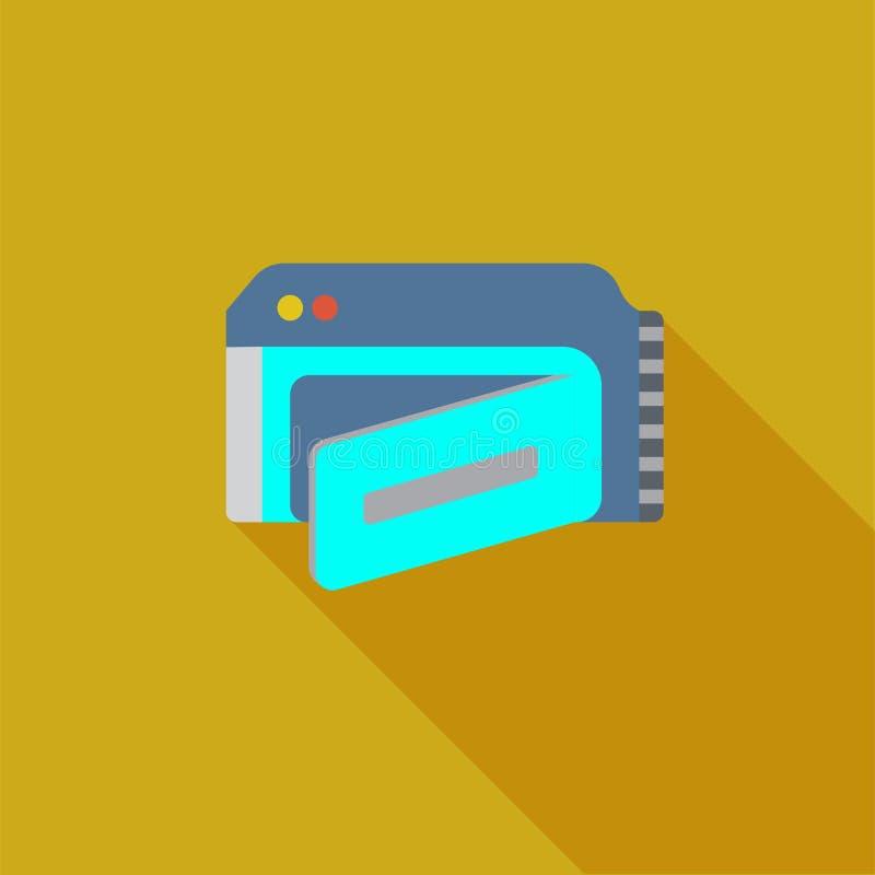 Icona o illustrazione della videocamera nello stile piano illustrazione di stock