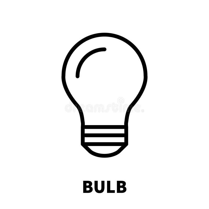 Icona o logo della lampadina nella linea stile moderna illustrazione di stock