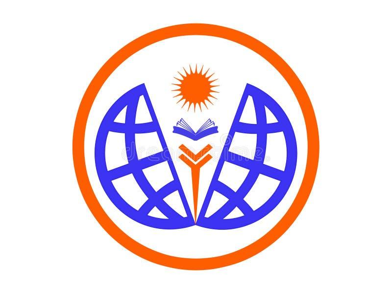 Icona o logo di istruzione del mondo royalty illustrazione gratis