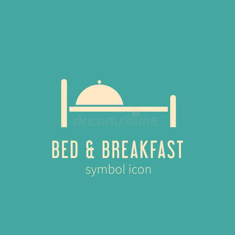 Icona o logo di simbolo di concetto di bed and breakfast illustrazione di stock