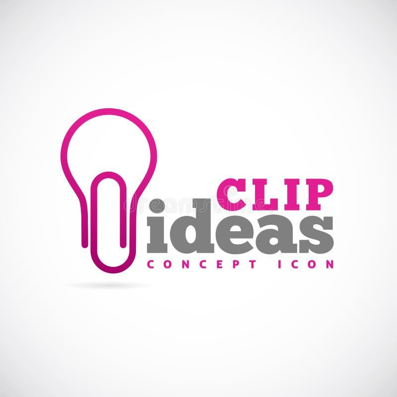 Icona o logo di simbolo di concetto di vettore di idee della clip illustrazione di stock