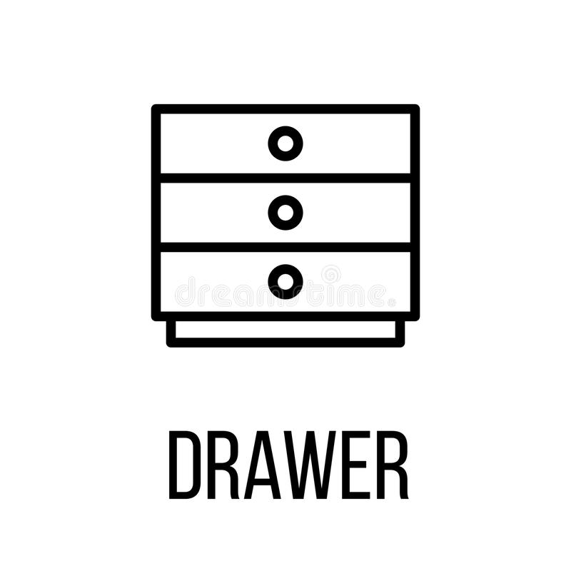 Icona o logo nella linea stile moderna royalty illustrazione gratis