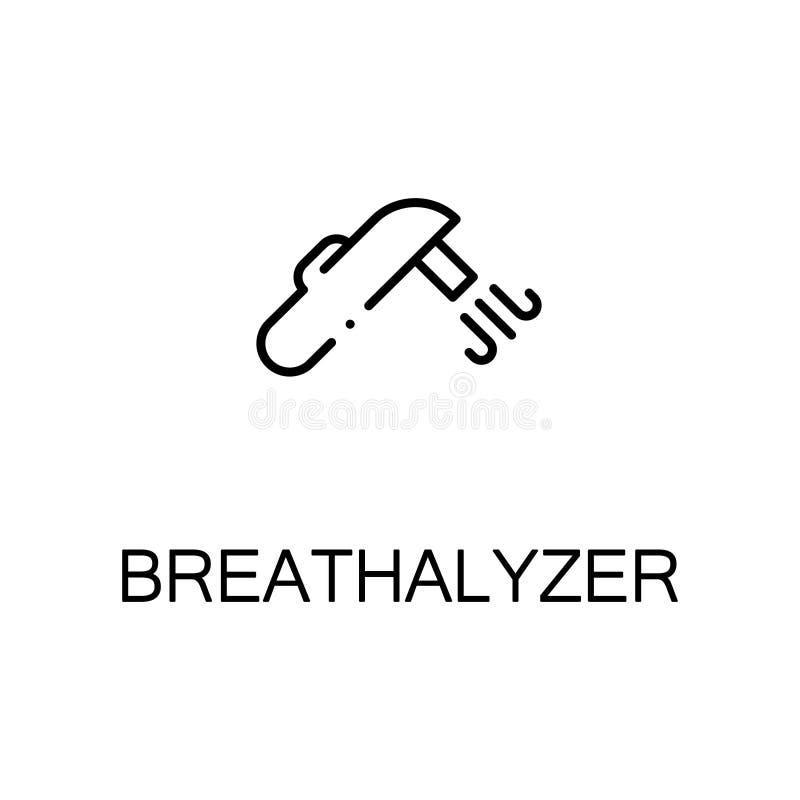 Icona o logo piana del Breathalyzer per web design royalty illustrazione gratis