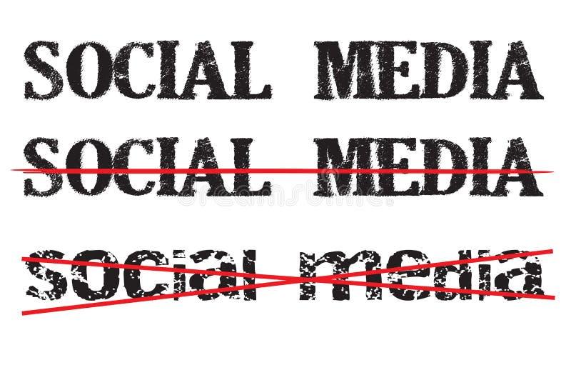 Icona o segno antisociale di media royalty illustrazione gratis