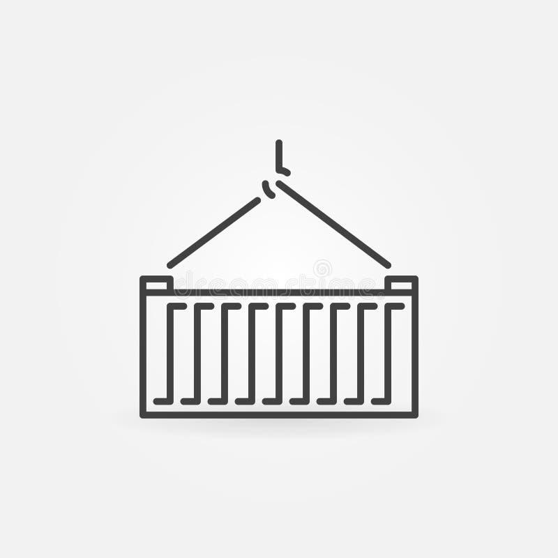 Icona o segno del container di vettore royalty illustrazione gratis