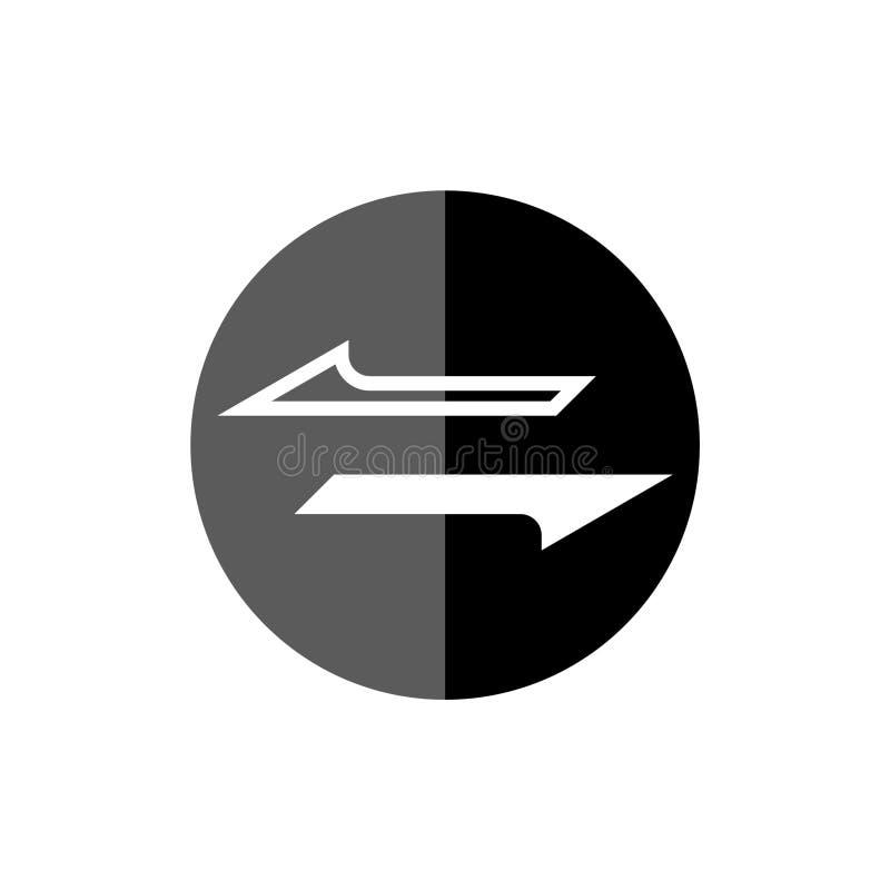 Icona o segno del convertito dei soldi illustrazione di stock