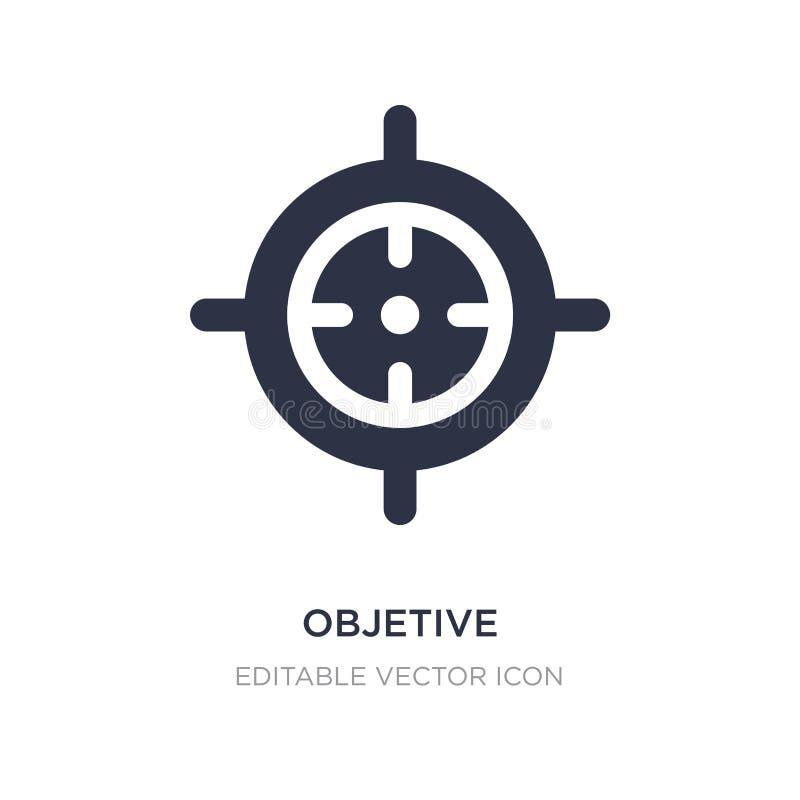 icona objetive su fondo bianco Illustrazione semplice dell'elemento dal concetto delle armi illustrazione vettoriale