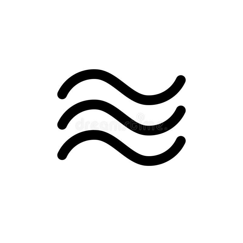 Icona ondulata dell'acqua nessuna 2 illustrazione vettoriale