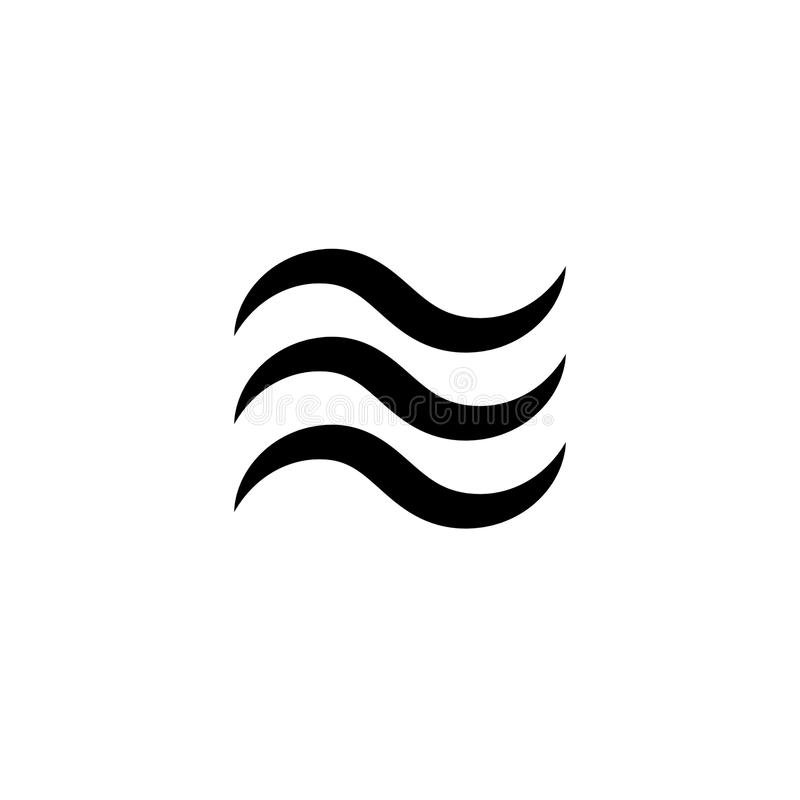 Icona ondulata dell'acqua nessuna 1 royalty illustrazione gratis
