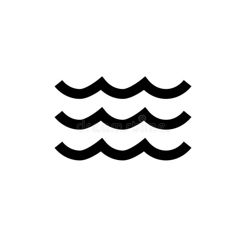 Icona ondulata dell'acqua nessuna 3 illustrazione vettoriale