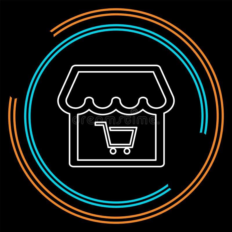 Icona online del deposito Illustrazione dell'elemento di logo illustrazione vettoriale