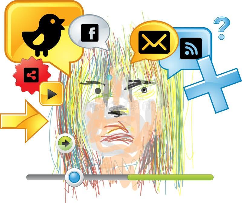 Icona online del fumetto di chiacchierata illustrazione di stock