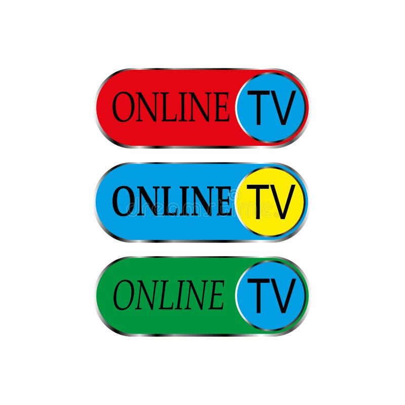 Icona online della TV fotografia stock libera da diritti