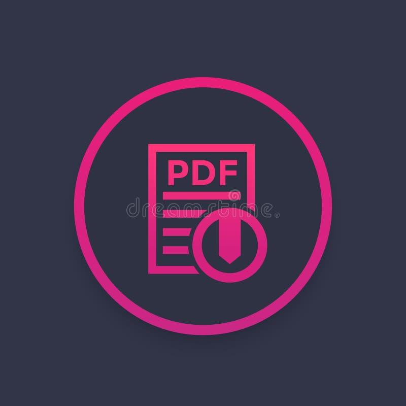 Icona PDF di download illustrazione vettoriale