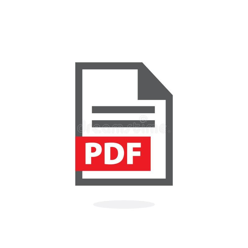 Icona PDF di vettore su fondo bianco illustrazione di stock