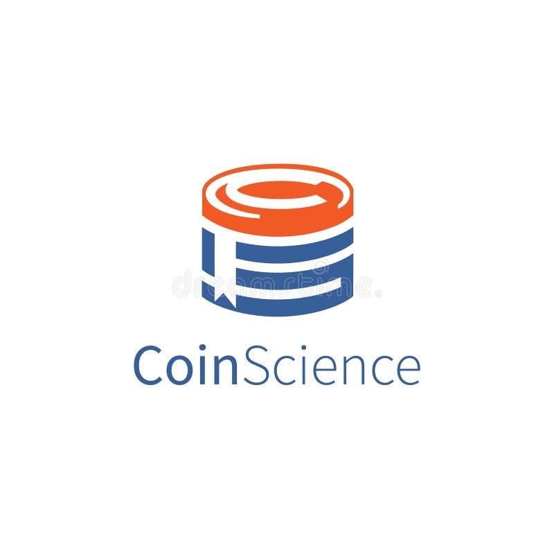 Icona per istruzione digitale delle monete illustrazione vettoriale