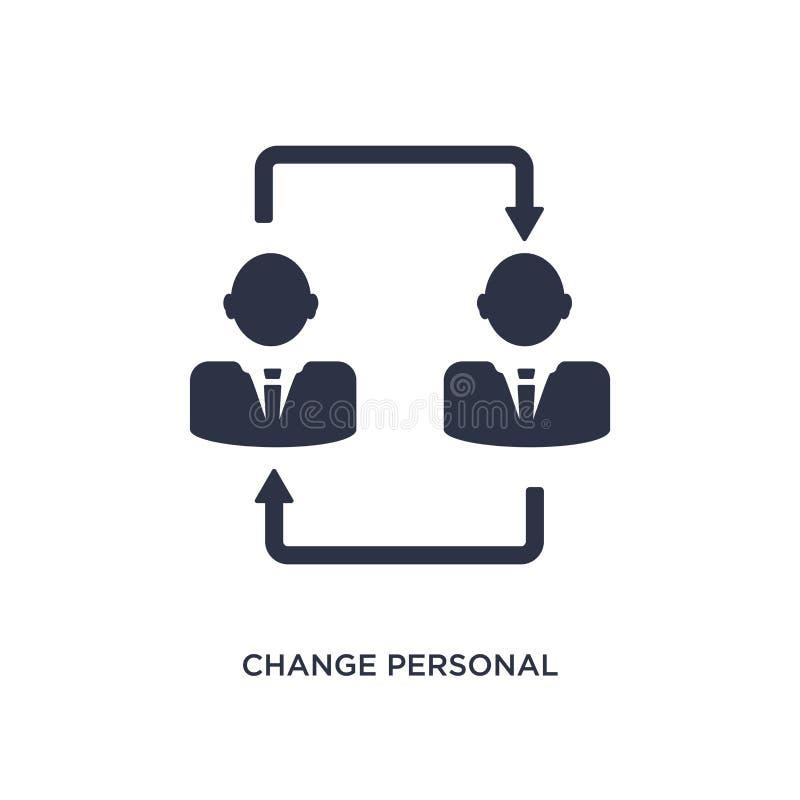 icona personale del cambiamento su fondo bianco Illustrazione semplice dell'elemento dal concetto del riassunto di lavoro illustrazione di stock