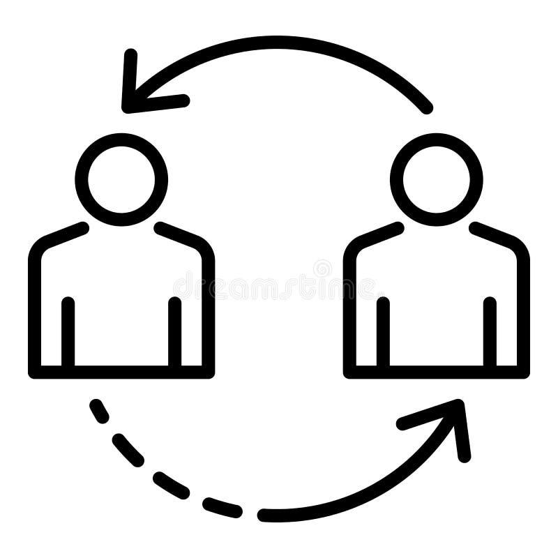 Icona personale di assunzione del cambiamento, stile del profilo illustrazione vettoriale