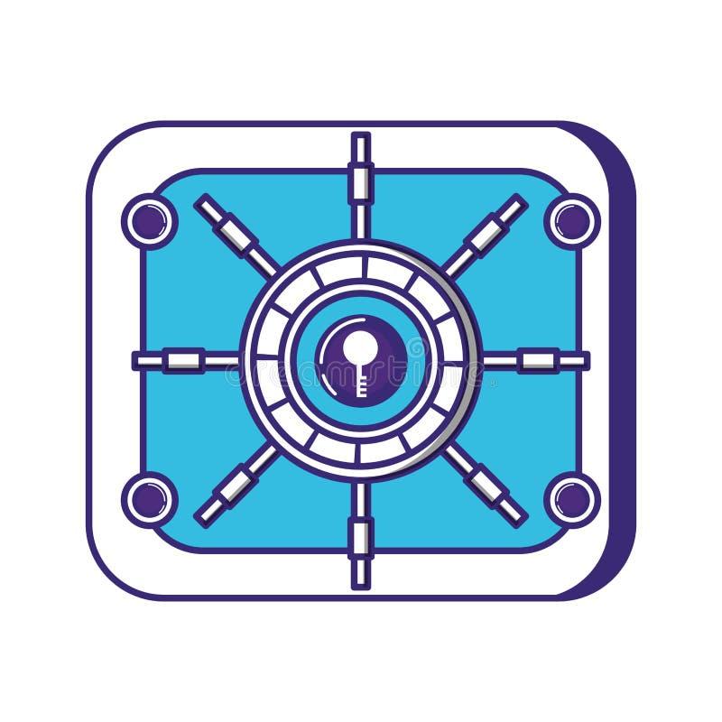 Icona pesante sicura della scatola illustrazione vettoriale