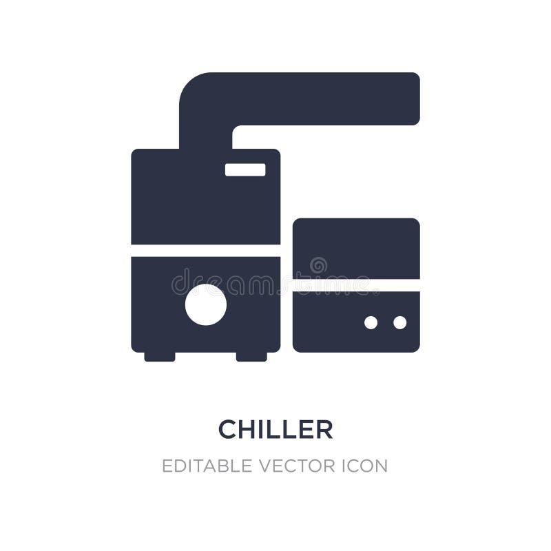 icona più fredda su fondo bianco Illustrazione semplice dell'elemento dal concetto della famiglia e della mobilia illustrazione vettoriale