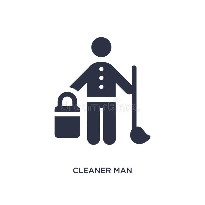 icona più pulita dell'uomo su fondo bianco Illustrazione semplice dell'elemento dal concetto di comportamento illustrazione vettoriale
