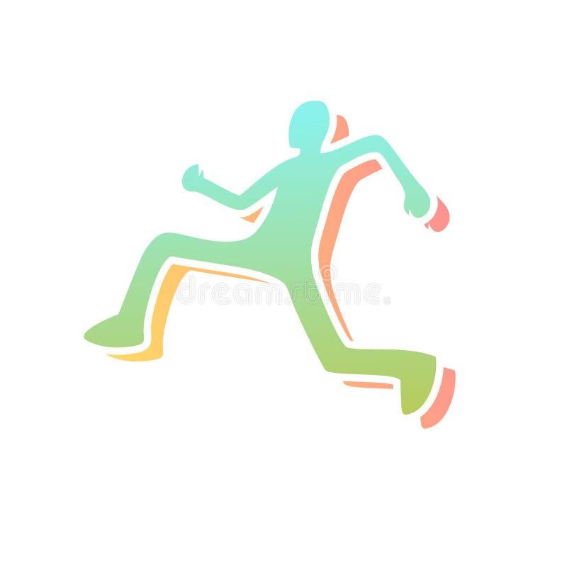 Download Icona Piacevole Del Corridore Illustrazione Vettoriale - Illustrazione di colorful, creativo: 117981912