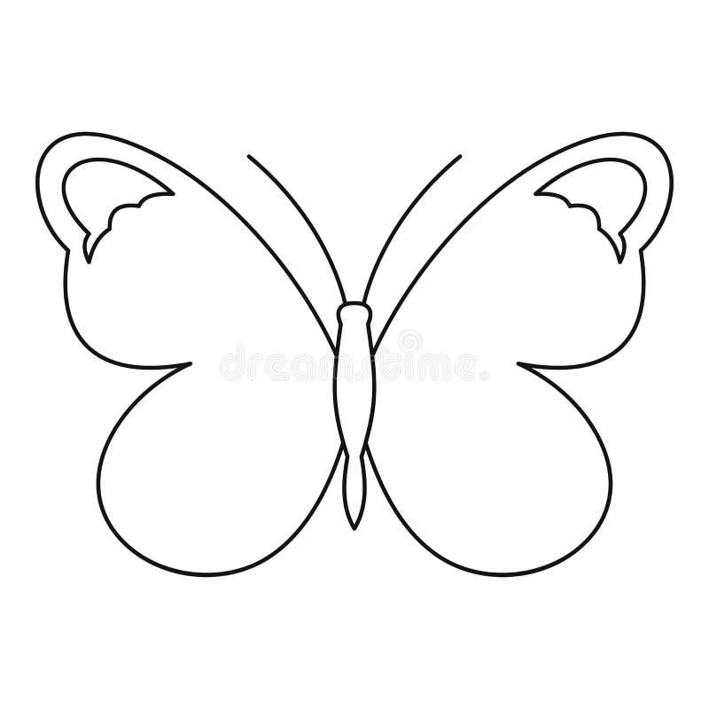 Icona piacevole della farfalla, stile del profilo illustrazione di stock
