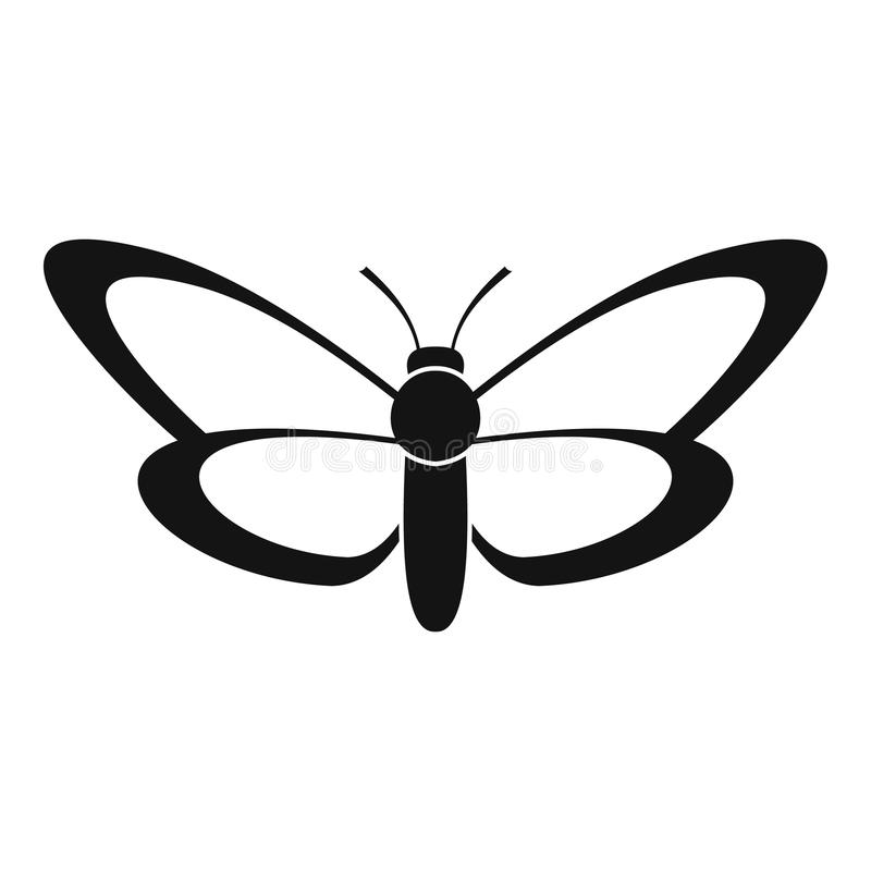 Icona piacevole della farfalla, stile semplice illustrazione vettoriale