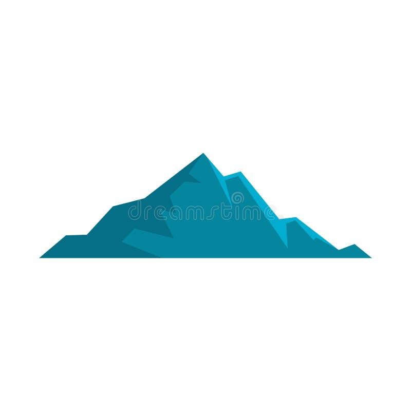 Icona piacevole della montagna, stile piano royalty illustrazione gratis