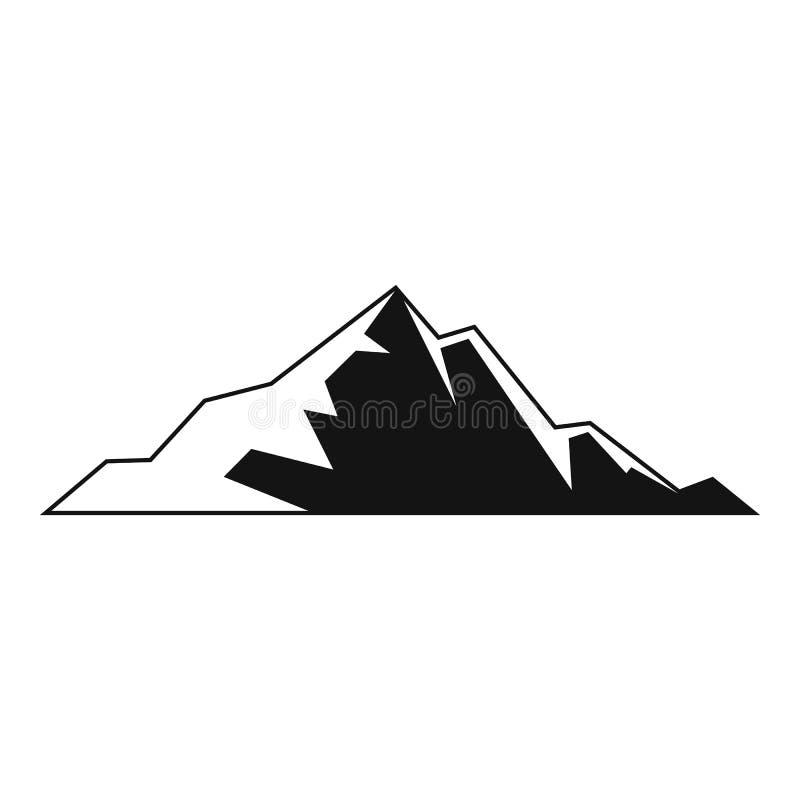 Icona piacevole della montagna, stile semplice royalty illustrazione gratis