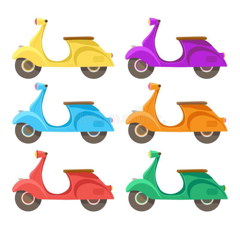 Icona piana creativa del motorino di progettazione di vettore illustrazione di stock