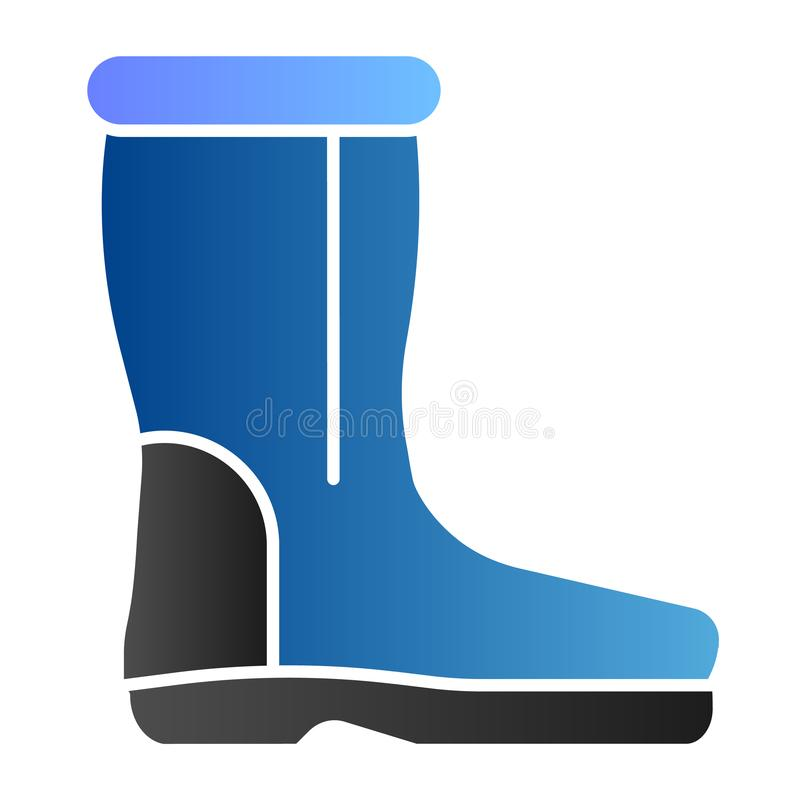 Icona piana degli stivali della lana Le scarpe calde colorano le icone nello stile piano d'avanguardia Progettazione ritenuta di  illustrazione di stock