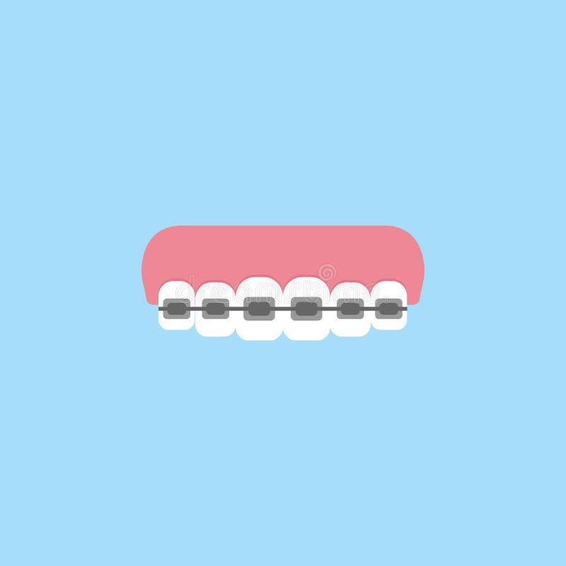 Icona piana dei ganci ortodontici royalty illustrazione gratis